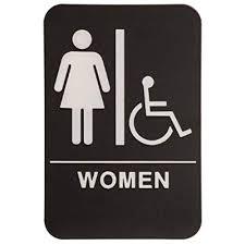 Handicap Bathroom Signs Adorable Women's Bathroom Signs Amazon