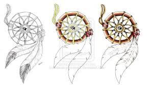Dream Catcher Tattoo Sketch Dreamcatcher Tattoos Designs 21