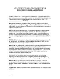 Nda Non Compete Template 22 Printable Noncompete Agreement Forms And Templates