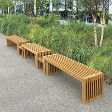 modern outdoor bench with back  bench decoration
