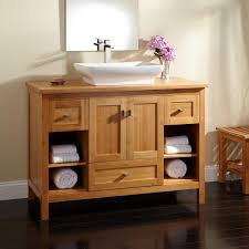 alcott bamboo vessel sink vanity  bathroom