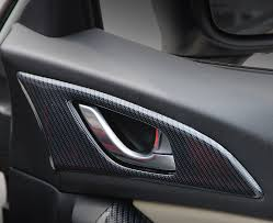 <b>2pcs for Mazda 3</b> Axela 2014 2016 Carbon fibre abs inside Door ...