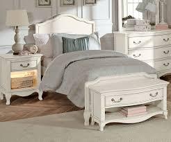 Kensington White Finish Charlotte Twin Size Panel Bed 20010   NE ...