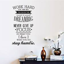 Small Picture Aliexpresscom Buy 4 Size Wall Decals Quotes Work Hard Vinyl