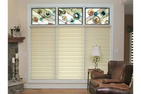 interesting transom windows for wall decorating ideas stained glass transom windows with blinds and white