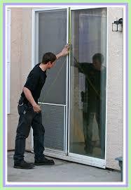 sliding glass door repair screen door