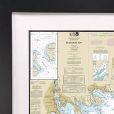 Bartons Cove Depth Chart Nautical Chart Gifts Ocean Offerings