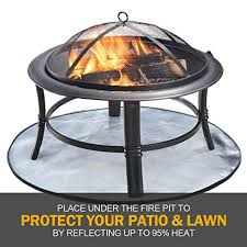 Roloway Fire Pit Mat For Deck Patio Fire Pit Pad Fireproof Mat Deck Protector For Wood Burning Fire Pit Bbq Smoker 3 Layers Fire Resistant Round Grill Mat For Lawn Snapklik