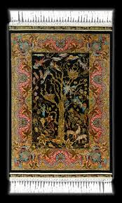 silk rugs art for the floor and wall