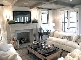 cozy living room with fireplace. Flatscreen TV Over Fireplace Cozy Living Room With I