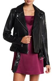 image of 7 for all mankind asymmetrical moto leather zip jacket