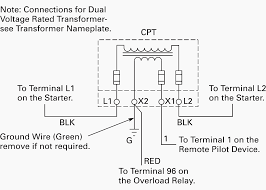 wiring of control power transformer for motor control circuits eep control power transformer wiring diagram