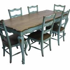 french country dining room painted furniture.  french large view of french country rustic dining table u0026 6 chairs teal blue and room painted furniture n