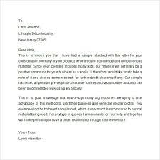 Samples Of Introduction Letters Business Mentor