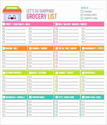 Free Printable Blank Grocery List 20 Printable Grocery List Template Lock Resume