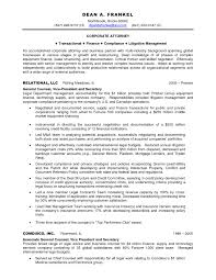 Transactional Attorney Sample Resume Mitocadorcoreano Com