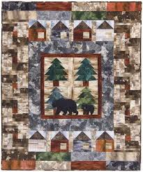 Bear Creek Cabins Quilt Kit | Keepsake Quilting &  Adamdwight.com