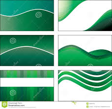 Green Card Template 6 Green Business Card Template Designs Stock Vector Illustration