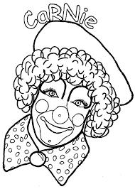 Clown Gezicht Kleurplaat