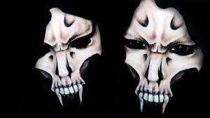 grim reaper makeup tutorial half skull 31 days of you