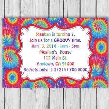 Tie Dye Birthday Invitation Tie Dye Invitation Tie Dye Birthday Party Tie Dye Invites Tie Dye Invitations Tie Dye Party Tie Dye