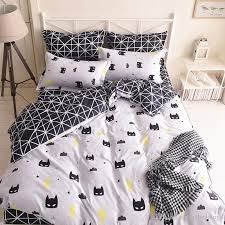 quality batman mask bedding set cartoon black white duvet cover bed set beddings single full queen king size bedclothes bedspread promotion canada 2019 from