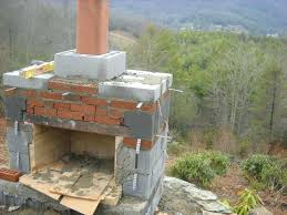 build a chimney living stone masonry good how to build an outdoor fireplace and