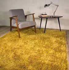 mustard yellow rug small x large size thick plain ochre soft gy non shed pile throw
