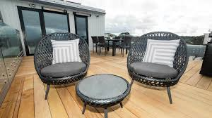 Outdoor chairs feature on the block nz side x side