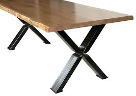 cross leg table additions oak dining steel legs legged s