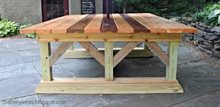 diy outdoor table. That\\\u0027s My Letter Diy Outdoor Trestle Dining Table