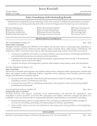 Sales Consultant Resume Free Resume Example And Writing Download