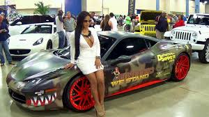 Crazy Wrap Hot Ferrari Italia At Dub Show Miami Really Hot Girl