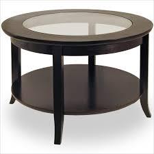 metal elegant round glass top coffee table with wood base with round glass top coffee table with