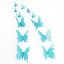 Small Picture 12pcs 3D Butterfly Sticker Art Design Decal Wall Stickers Home
