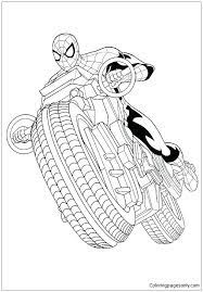 Coloring pages for boys coloringpages printable page. Spiderman With Motorcycle Coloring Pages Spiderman Coloring Pages Free Printable Coloring Pages Online