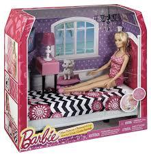 barbie size dollhouse furniture set. Amazon Com Barbie Doll And Bedroom Furniture Set Toys Games Size Dollhouse L