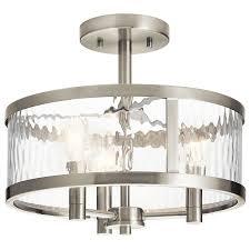 Kichler Marita 5 Light Pendant Kichler Lighting Marita 13 In W Brushed Nickel Clear Glass