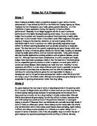 gene doping in sport gene doping is the non therapeutic use of  page 1 zoom in