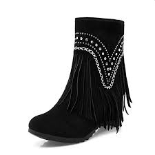 Amazon Com Padaleks Womens Ankle Boots Round Toe Increase