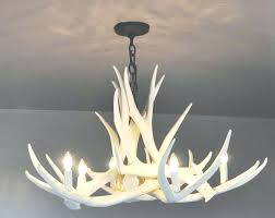 chandeliers faux white antler chandelier collection of for the within canada