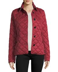 Burberry Frankby Quilted Jacket, Parade Red | Neiman Marcus & Frankby Quilted Jacket, Parade Red Adamdwight.com