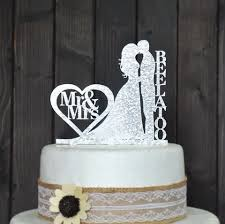 Custom Wedding Cake Topper Personalized With Your Last Name Chofos