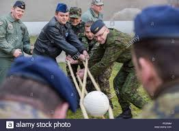 Inter-European Air Forces Academy officer and NCO students participate in a  leadership exercise during a combined international officer and NCO mobile  professional military education course in Brno, Czech Republic. Twenty-one  students from