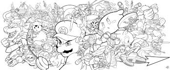 Mario Wii U Coloring Pages Murderthestout