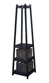 Standing Coat Rack With Baskets