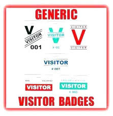 Company Badge Template Generic Visitor And Pass Main Graphic