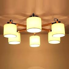 ceiling lights japanese ceiling light pendant fabric shade oak wood branch fixture style hanging lamp