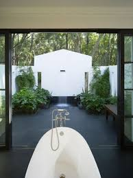Indoor And Outdoor Bathrooms