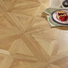 Bq Kitchen Flooring Staccato Oak Parquet Effect Laminate Flooring 186 Ma2 Pack